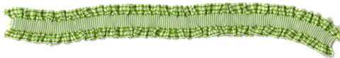 Bazzill - Green Ruffled Ribbon