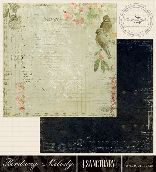 Blue Fern Studios Paper Collection - Sanctuary -  Birdsong Melody