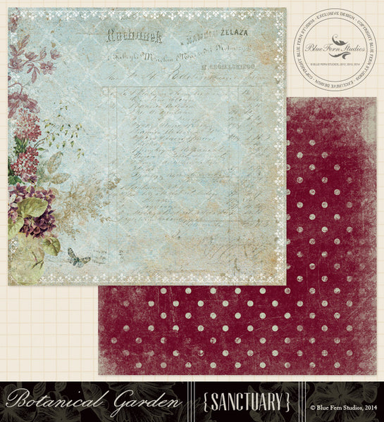 Blue Fern Studios Paper Collection - Sanctuary -  Botanical Garden