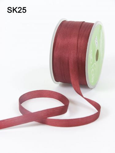 May Arts - Burgandy Silk Ribbon