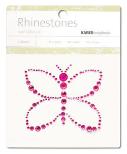 Kaiser Craft - Hot Pink Butterfly Rhinestones