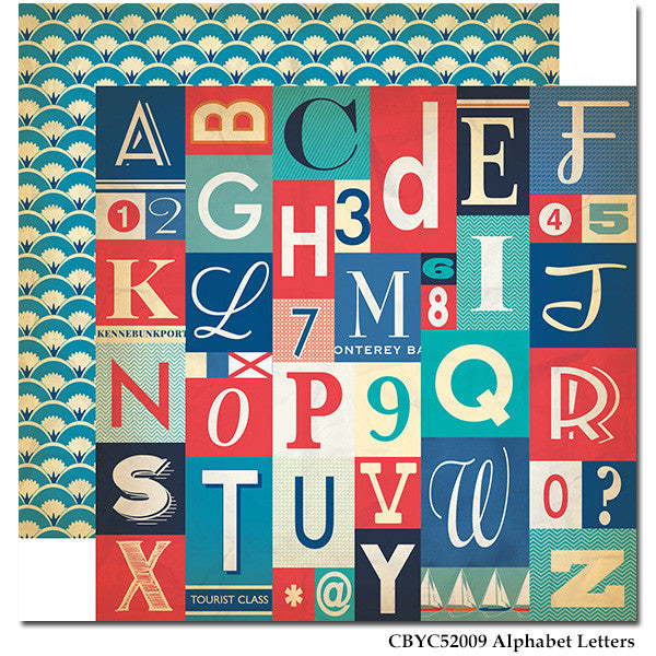 Carta Bella - Yacht Club - Alphabet Letters
