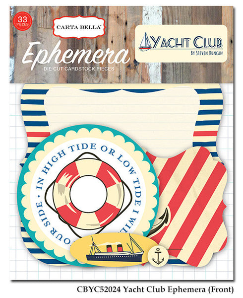Carta Bella - Yacht Club - Ephemera