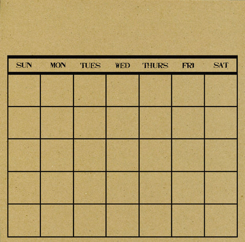 Canvas Corp Papers - Stamped Calendar