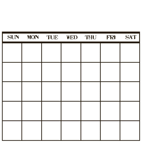 Canvas Corp Papers - Stamped Calendar -White
