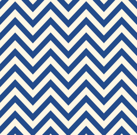 Canvas Corp Papers - Navy & Ivory Chevron