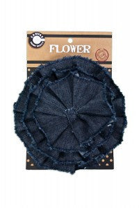Canvas Corp  - Dark Denim Canvas Flower