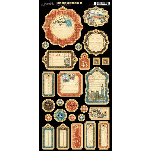 Graphic45  CityScape Chipboard Embellishments #1