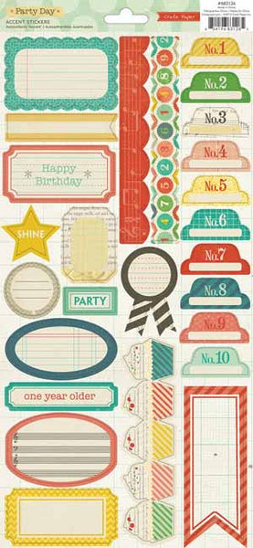 Crate Paper - Party Day - Labels and Borders Stickers