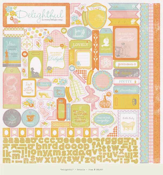 Authentique - Delightful - Details Sticker Sheet