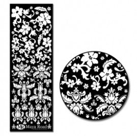 Maya Road - Damask Rub-ons White
