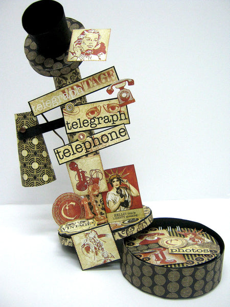 Vintage Telephone with Mini Album Base - Einat Kessler