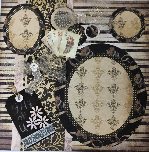 Busy Baroque Layout kit - Becky Ayers