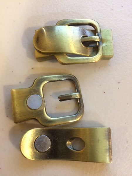 Metal Large Antique Brass tone magnetic buckle