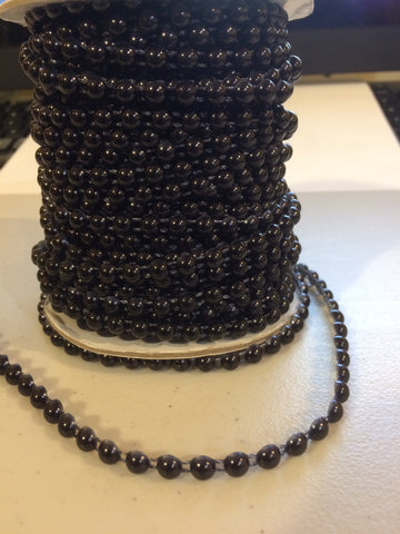 Large Black flat backed pearls