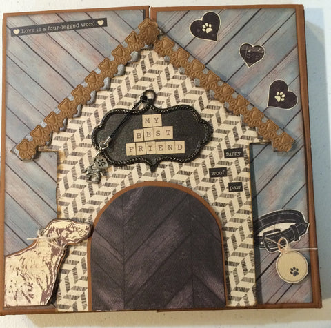 Doghouse Foldout Mini Album kit- Pam Ruth
