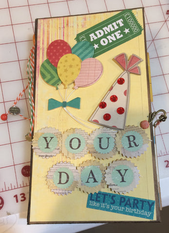 It's a Party  mini album kit - Pam Ruth