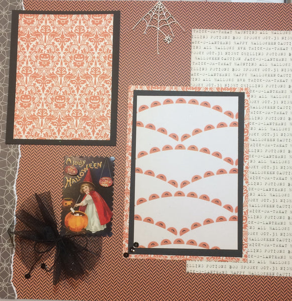 Halloween Greetings Layout Kit - Pam Ruth