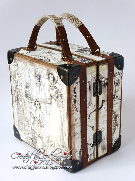 A Vintage Style Suitcase and Album with Drawer Kit - Alexandra Morein