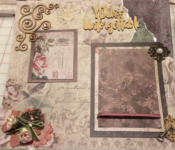 Unforgetable Vintage Layout Kit - Pam Ruth