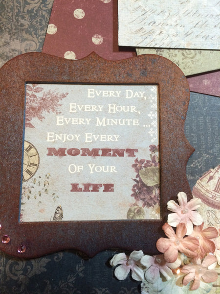 Days, Hours, Moments Vintage Layout Kit - Pam Ruth