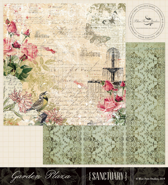 Blue Fern Studios Paper Collection - Sanctuary -  Garden Plaza