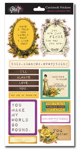 Glitz - dance in sunshine - title stickers