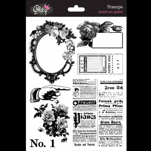 Glitz Design - Laced with Grace - clear stamps