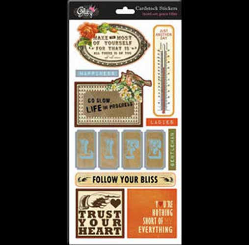 Glitz Design - Laced with Grace - Title Stickers