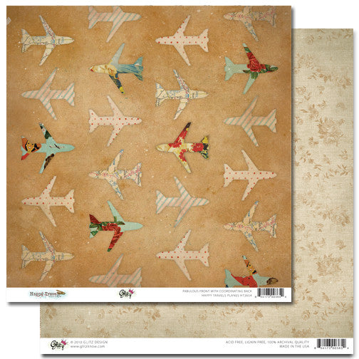 Glitz Design - Happy Travels - Planes Paper