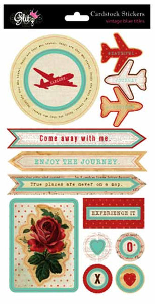 Glitz Design - Happy Travels - Layered Stickers
