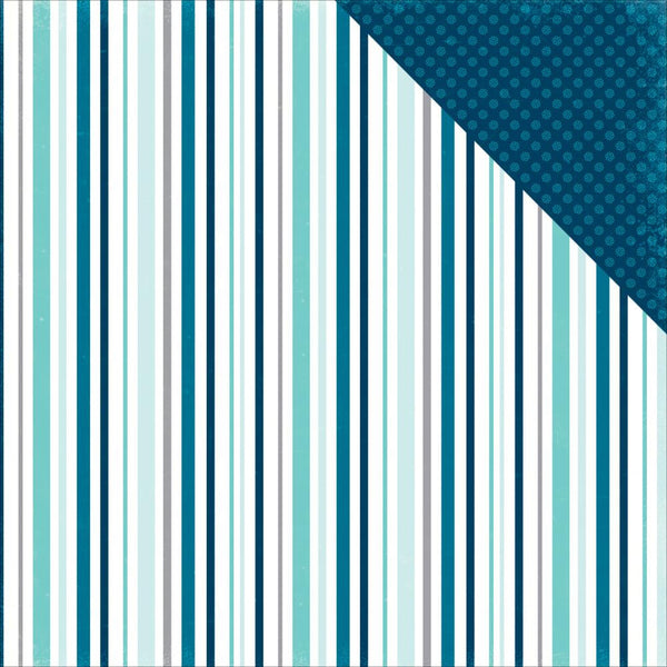 Hello Winter Paper - Chilled Stripe