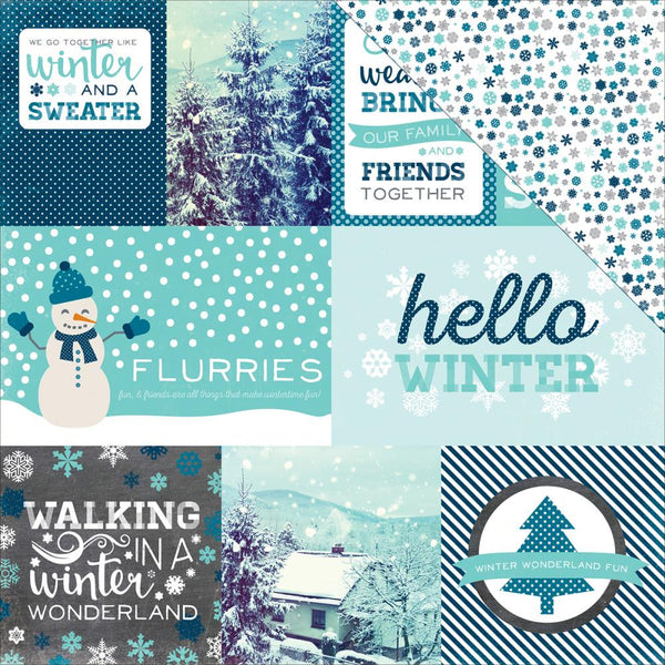 Hello Winter Paper - Journaling Card