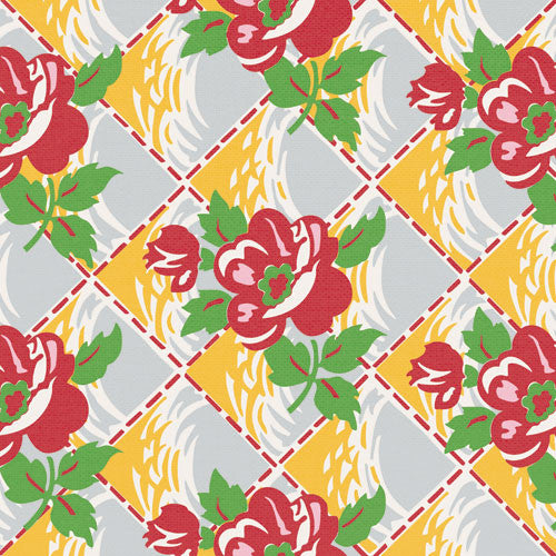 Jenni Bowlin Paper Collection - Homespun - Quilted Floral Paper