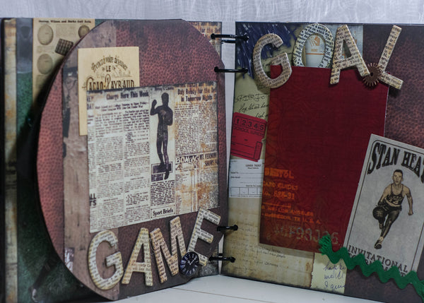 Sports Memories Mini Album Kit - Sheila Rumney