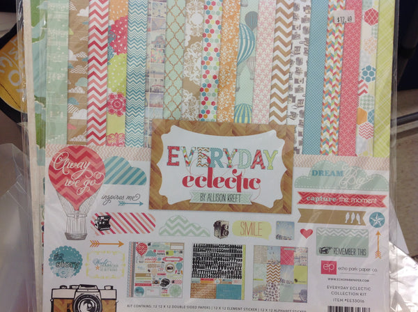 Echo Park  everyday eclectic Double-Sided Paper Collection
