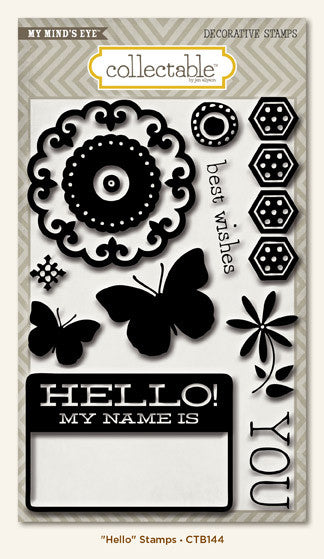 My Mind's Eye Collectable - Memorable- Hello - Stamps
