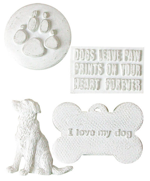 Melissa Frances - Dog Resin embellishment  Set