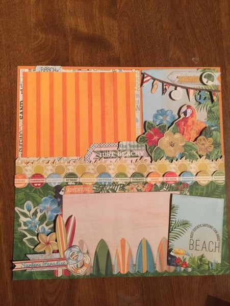 Beach Therapy Layout Kit - Bo Bunny - Marilyn Kennedy