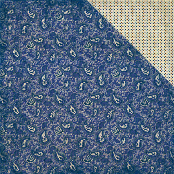 Authentique- Rugged - navy paisley/mini dots #4
