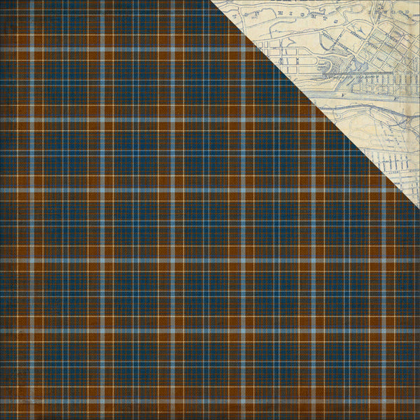 Authentique- Rugged - Plaid/city map #6