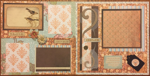 Next to Nature 12x12 layout- Becky Ayers