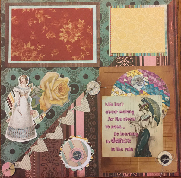 Buttons and Baubles Layout Kit - Becky Ayers