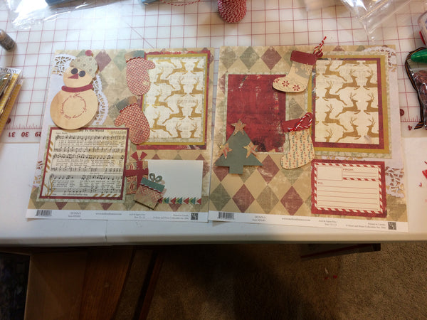 Vintage Christmas Layout – Pam Ruth