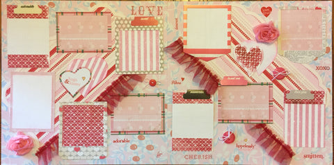 My frilly Valentine Layout Kit - Becky Ayers