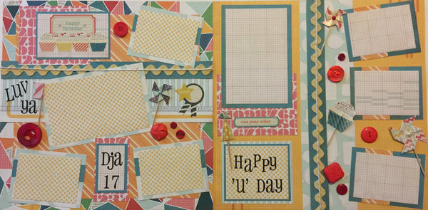 Birthday Blowout Layout Kit - Becky Ayers