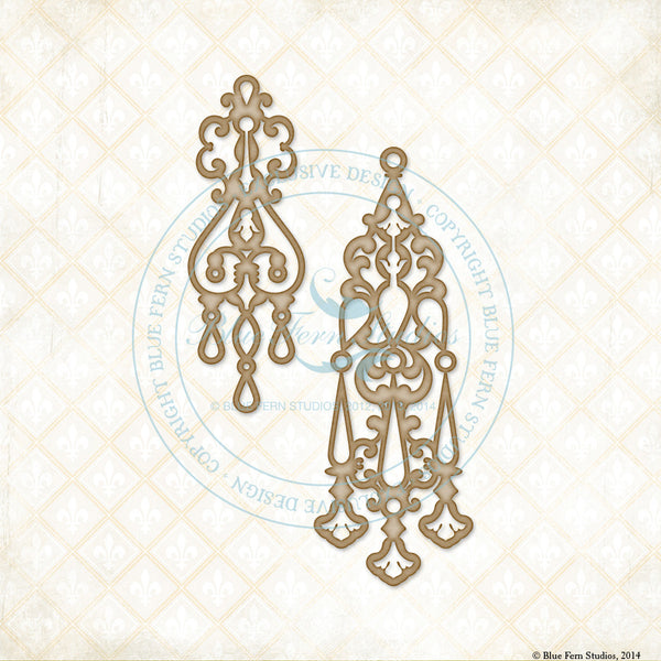 Blue Fern Studios Laser  Cut Chipboard - Jeweled Page Baubles