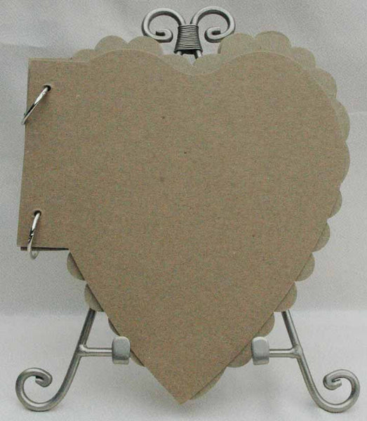 Photographs and Memories - Jute String - Scalloped & Straight Edge Heart  Album