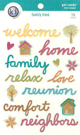 KI Memories -  Family Time  - Epoxy Stickers