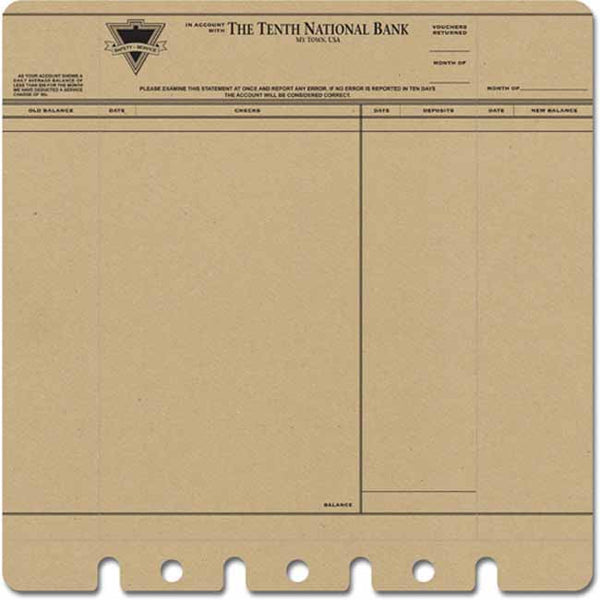 Jenni Bowlin Paper Collection - Die Cut & Perforated - Bank Statement Paper
